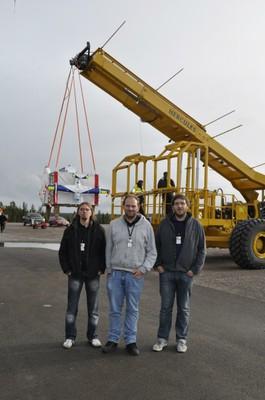 Abbildung 7: Das RETA-Team for der BEXUS13 Gondel
